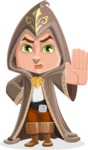 Young Wizard Boy Cartoon Vector Character AKA Ezra the Mage - Stop 1