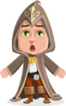 Young Wizard Boy Cartoon Vector Character AKA Ezra the Mage - Stunned