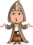 Young Wizard Boy Cartoon Vector Character AKA Ezra the Mage - Shocked