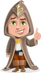 Young Wizard Boy Cartoon Vector Character AKA Ezra the Mage - Attention