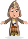 Young Wizard Boy Cartoon Vector Character AKA Ezra the Mage - Lost