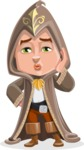 Young Wizard Boy Cartoon Vector Character AKA Ezra the Mage - Duckface