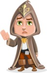 Young Wizard Boy Cartoon Vector Character AKA Ezra the Mage - GoodBye