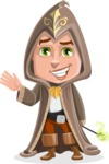 Young Wizard Boy Cartoon Vector Character AKA Ezra the Mage - Hello