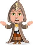 Young Wizard Boy Cartoon Vector Character AKA Ezra the Mage - Scared 1