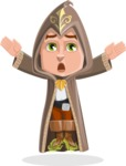 Young Wizard Boy Cartoon Vector Character AKA Ezra the Mage - Scared 2