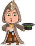 Young Wizard Boy Cartoon Vector Character AKA Ezra the Mage - Magic 1