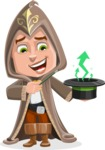 Young Wizard Boy Cartoon Vector Character AKA Ezra the Mage - Statistics