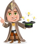 Young Wizard Boy Cartoon Vector Character AKA Ezra the Mage - Idea