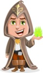 Young Wizard Boy Cartoon Vector Character AKA Ezra the Mage - Magic 3