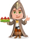 Young Wizard Boy Cartoon Vector Character AKA Ezra the Mage - Cookies