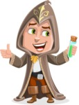 Young Wizard Boy Cartoon Vector Character AKA Ezra the Mage - Decoction 2