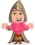 Young Wizard Boy Cartoon Vector Character AKA Ezra the Mage - Love