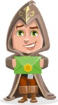 Young Wizard Boy Cartoon Vector Character AKA Ezra the Mage - Mail