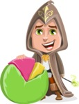 Young Wizard Boy Cartoon Vector Character AKA Ezra the Mage - Chart