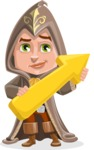 Young Wizard Boy Cartoon Vector Character AKA Ezra the Mage - Arrow 2