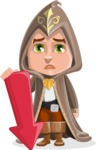 Young Wizard Boy Cartoon Vector Character AKA Ezra the Mage - Arrow 3