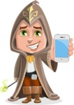 Young Wizard Boy Cartoon Vector Character AKA Ezra the Mage - iPhone