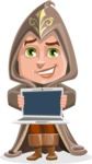 Young Wizard Boy Cartoon Vector Character AKA Ezra the Mage - Laptop 2