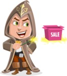 Young Wizard Boy Cartoon Vector Character AKA Ezra the Mage - Sale 2