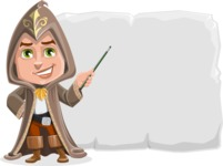 Young Wizard Boy Cartoon Vector Character AKA Ezra the Mage - Presentation 1