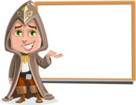 Young Wizard Boy Cartoon Vector Character AKA Ezra the Mage - Presentation 2