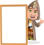 Young Wizard Boy Cartoon Vector Character AKA Ezra the Mage - Presentation 3