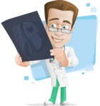 Expert Male Doctor Cartoon Vector Character AKA Isaac On-Appointment - Shape5