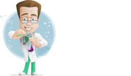 Expert Male Doctor Cartoon Vector Character AKA Isaac On-Appointment - Shape7