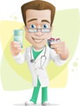 Expert Male Doctor Cartoon Vector Character AKA Isaac On-Appointment - Shape8