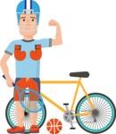 Sportsman Vector Graphics Maker - Character 70