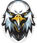 Vector Mascot Collection - Angry Eagle Mascot Logo Design