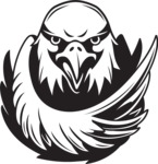 Vector Mascot Collection - Black and White  Eagle Mascot