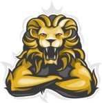 Vector Mascot Collection - Angry Wild Lion Mascot