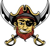 Vector Mascot Collection - One Eyed Pirate Mascot Design