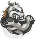 Vector Mascot Collection - Angry Dog Mascot Design