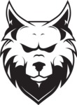 Vector Mascot Collection - Simple Wolf Head Mascot Design
