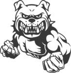Vector Mascot Collection - Black and White Bulldog Mascot Design