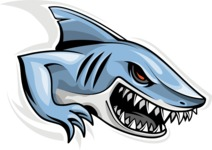 Vector Mascot Collection - Angry Shark Mascot Design