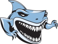 Vector Mascot Collection - Blue Shark Mascot Design