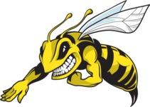 Vector Mascot Collection - Bee Mascot Design