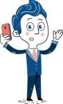 112 Blue Hand-Drawn Cartoon Character Illustrations - Duckface