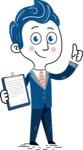112 Blue Hand-Drawn Cartoon Character Illustrations - Notepad 1