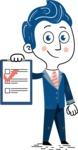 112 Blue Hand-Drawn Cartoon Character Illustrations - Notepad 3