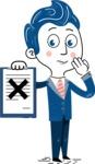 112 Blue Hand-Drawn Cartoon Character Illustrations - Notepad 4