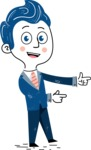 112 Blue Hand-Drawn Cartoon Character Illustrations - Point2