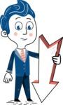 112 Blue Hand-Drawn Cartoon Character Illustrations - Pointer 3