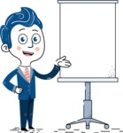 112 Blue Hand-Drawn Cartoon Character Illustrations - Presentation 1