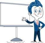 112 Blue Hand-Drawn Cartoon Character Illustrations - Presentation 2