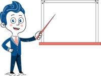 112 Blue Hand-Drawn Cartoon Character Illustrations - Presentation 3